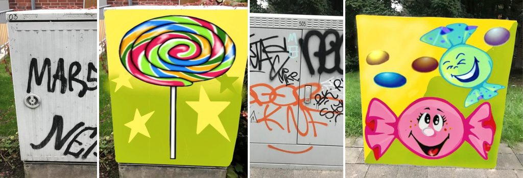 Graffiti Aktion